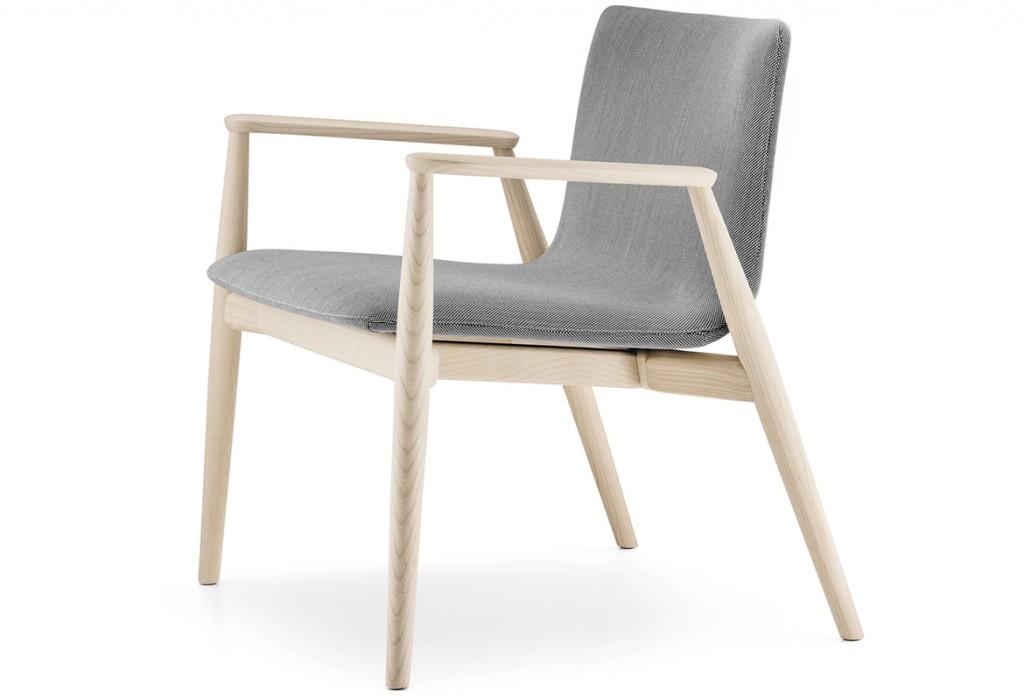 Billede af loungestol træ med arm, Malmø
