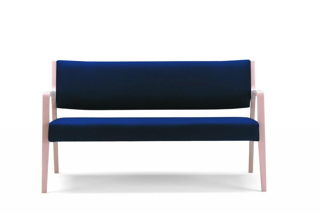 Billede af Forstærket 3 pers sofa med lav ryg