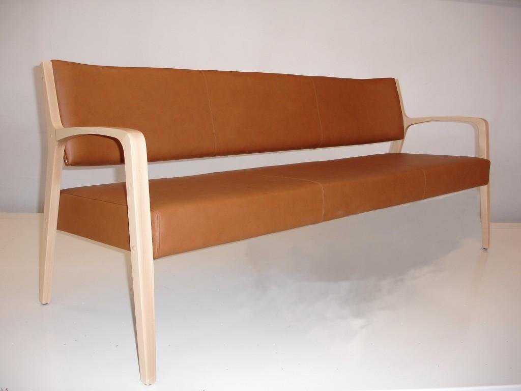 Billede af sofa med læder