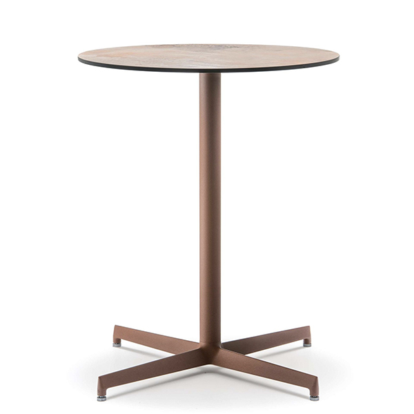 Billede af Cafebord rundt med laminat plade 60 cm diameter