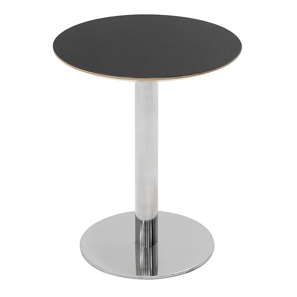 Billede af Cafebord søjle 2 med søjle og fod i børstet krom.
