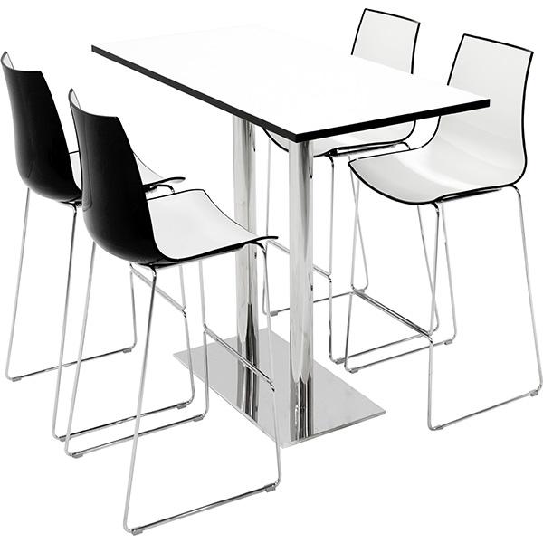 Billede af Cafebord højbord 60 x 140 cm