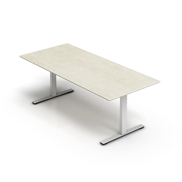 Billede af Rektangulært hæve sænke bord, som er et af de mest solgte H/S-borde overhovedet. Et robust og stabilt PC-bord.
