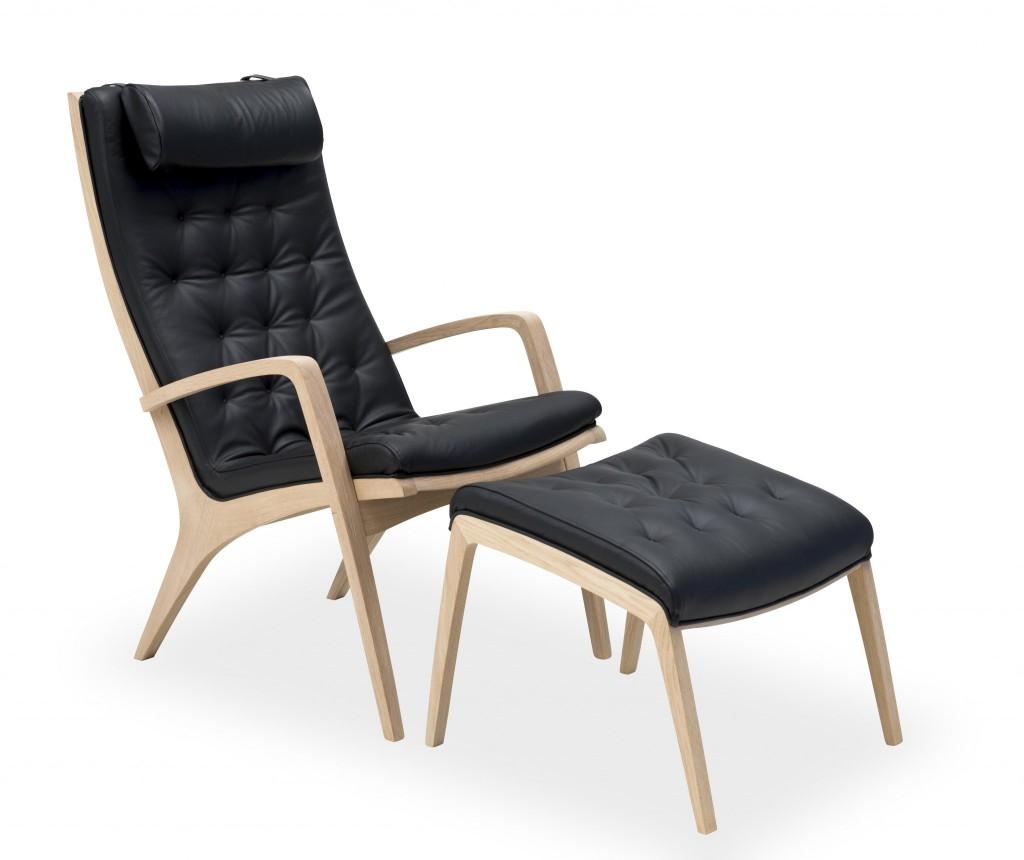 Komfortabel hvilestol/Loungestol inkl. nakkepude. Findes med forskellige tekstiler.