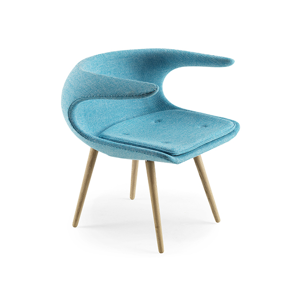 Loungestol blå FROST
