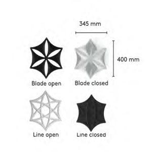 Skitse af de 4 designs af Airflake