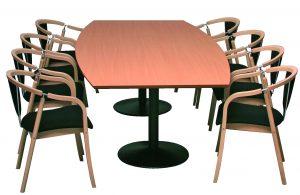 Billede af mødestol Anna ved mødebord