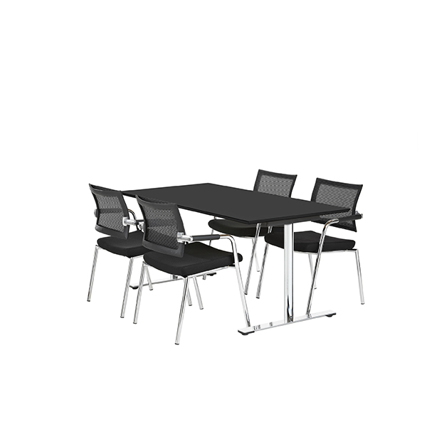 Billede af mødebord 4 personer, linoleum