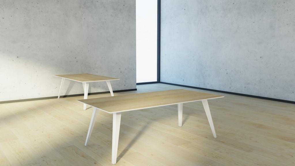 Billede af Mødebord Spider 1 i 80 x 180 cm