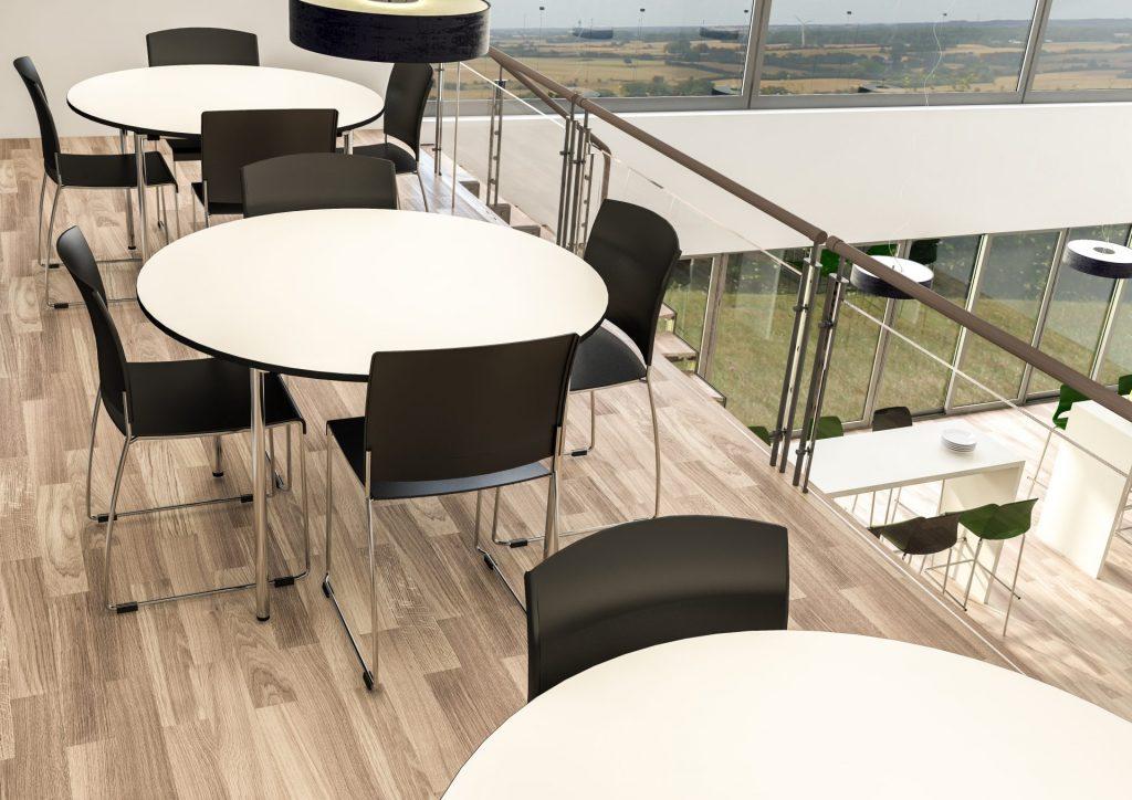 Billede af cafebord rundt 1, kantinebord