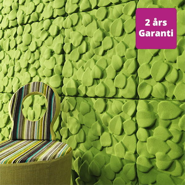 billede af vægpanel akustik Leaves grønne