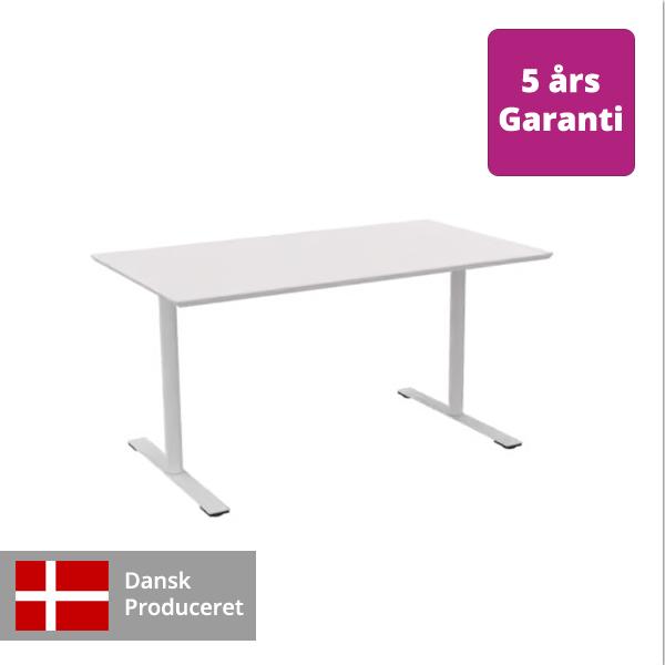 Billede af hæve sænkebord hvidt