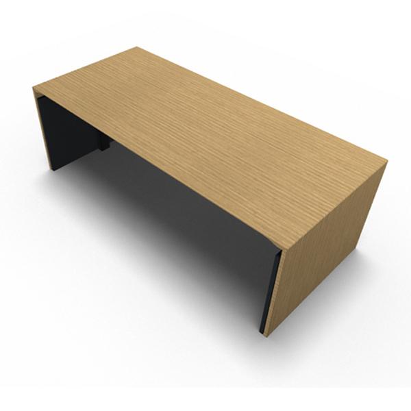 Billede af hæve sænkebord Design Gavl .Stabilt, elegant og enkelt Hæve Sænke bord, med endegavle i træ.