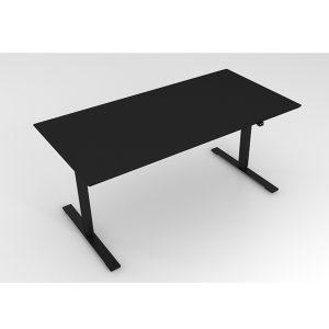 Hæve Sænkebord Sort Enten linoleum eller nano laminat.