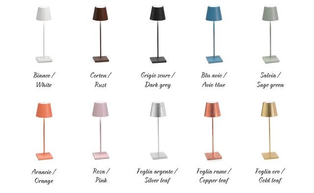 Bordlampe LED Poldina Farver