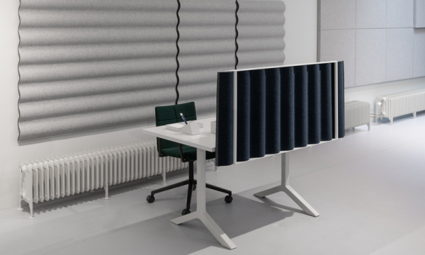 Billede af bølgeformet bordskærm Scala