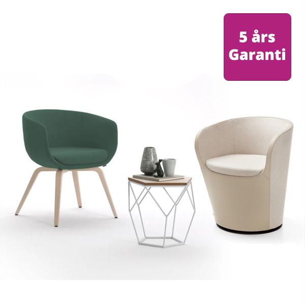 Billede af formstøbte loungestole