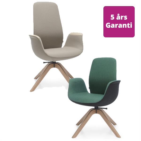 Billede af justerbar armstol med høj eller lav ryg